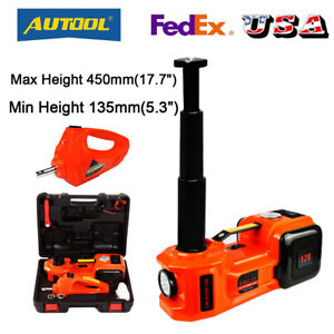 5 Ton Car Jack Lift 12v Dc Electric Hydraulic Floor Jack With Impact Wrench Set