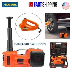 5 Ton Electric Hydraulic Floor Jack Car Jack Lift 12v Dc Electric Impact Wrench