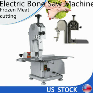 Commercial Automatic Bone Sawing Machine Frozen Meat Steak Cutter 110v New