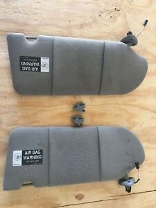 1999 Pontiac Grand Prix Gt Pair Of Sun Visors Gray Cloth