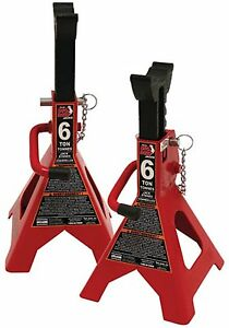 6 Ton Vehicle Floor Jacks Two Adjustable Height Locking Car Repair Jack Stands