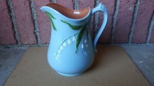 Antique Handpainted Ironstone Lily Of The Valley 8 Pitcher England Marked