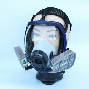 Full Face Chemical Mask Anti gas Mask Acid Dust Respirator Paint Filter Mask Re