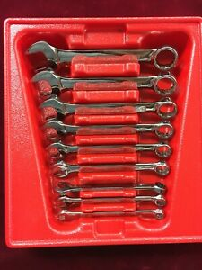 Snap On 9pc 12 point Short Combination Wrench Set 5 16 3 4 Pakld161