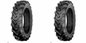Two New 7 50 16 Farm Tractor Lug Tires With Tubes 8 Ply 75016 750 16