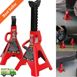 Auto Jack Stands 3 Ton Vehicle Support 17 High Lift Garage Car Truck Set 2 Pack