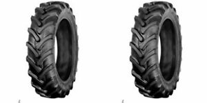 Two 9 5x22 9 5 22 Kubota M4700 6 Ply R 1 Bar Lug Tractor Tires Tubeless