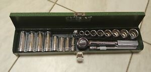 Nice Minty S k Tools 20 Piece 3 8 Drive Sae Socket Set In Case
