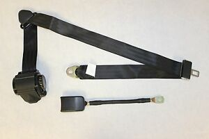 3 Point Retractable Seat Belt With End Release Black