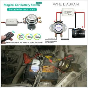 12v Car Battery Switch Wireless Remote Disconnect Latching Relay Electromagnetic