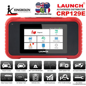Obd2 Car Diagnostic Tool Code Reader Oil Epb Sas Reset Tpms Launch Crp129e