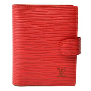 Authentic Louis Vuitton Epi Leather Day Planner Case Agenda Mini Red France Lv