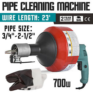 700w Electric Drain Cleaner Cleaning Machine Wire Snake Electric Brand New