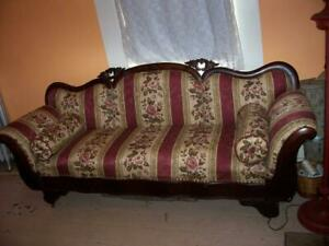 Antique Victorian 1880s Sofa Couch