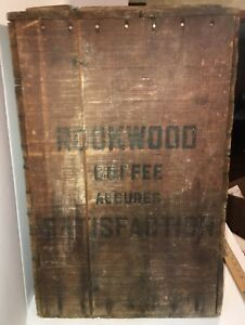 Antique Rookwood Coffee Box Crate Wooden Country Store