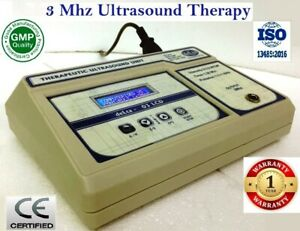 Portable Ultrasound Therapy 3 Mhz Frequency 03 Lcd Physiotherapy Machine