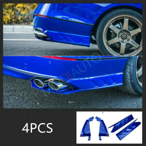 Fit For Honda Accord 2018 2019 Abs Rear Bumper Both Side Lip Molding Trims 4pcs
