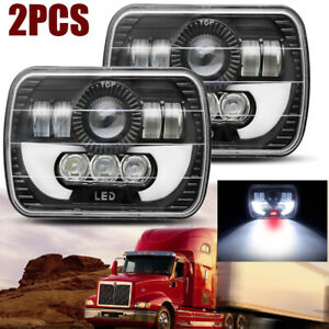2pcs 7x6 Led Hi l Beam Headlight For International Ihc Assembly 9200 9900 9400i