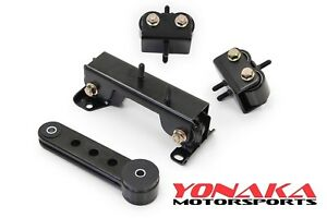 Yonaka For 02 05 Subaru Impreza Wrx Sti Engine Transmission Motor Mount Kit
