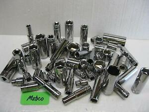 Matco Silver Eagle Tools 3 8 Drive Sockets Metric And Sae Sold Each New