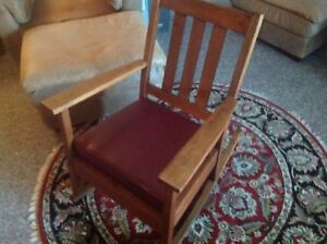 Antique Arts And Crafts Mission Oak Rocker Original Finish