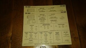 1956 Buick Series 40 50 60 70 264 322 Cu In Engine Spec Sheets Nos