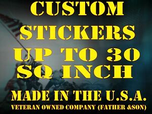 1 Custom Printed Full Color Vinyl Car Bumper Sticker Logo Decal Up To 30 Sq In