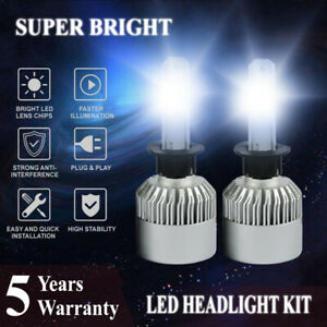H1 Led Headlight Bulbs Conversion Kit 2500w 375000lm 6000k White Light Bulb Lamp