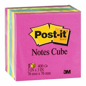 Post it Post it Notes Cube 400 Ct 400 Ct pack Of 16