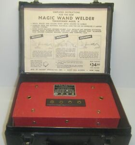 Vintage Working The Magic Wand Welder Transformer 1945 Model A Complete