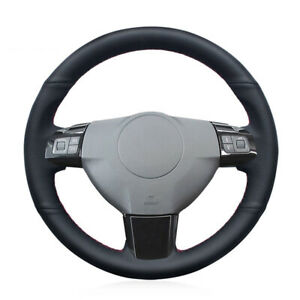 Black Leather Hand Sewing Car Steering Wheel Cover Fits For Opel Astra 2004 2005