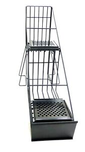 Curtis Airpot Rack 2 Position Step up With Drip Trays Heavy gauge Wire