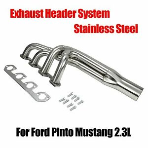 For Ford Pinto Mustang 2 3l Stainless Exhaust Header System Production Chassis