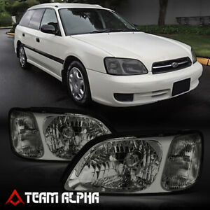 Fits 2000 2004 Subaru Legacy Chrome Smoke Crystal Corner Headlight Headlamp Lamp
