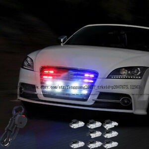 Universal Led Strobe Emergency Flashing Police Warning Grill Light Fit For Audi