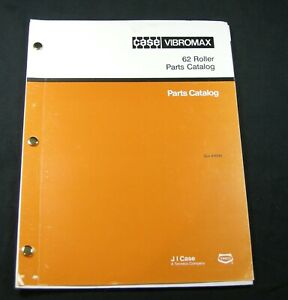 Case Vibromax 62 Roller Compactor Walk Behind Parts Manual Book Catalog List