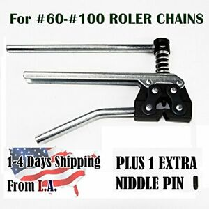 Roller Chain Breaker Cutter For 60 80 And 100 Size Motorcycle Bicycle Atv Chains
