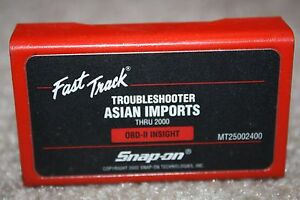Snap on 2000 Asian Imports Troubleshooter Cartridge Software Mt2500 Mtg2500