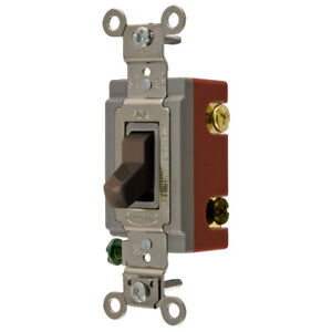 Hubbell Hbl1224 4 way Toggle Switch Industrial Grade Brown