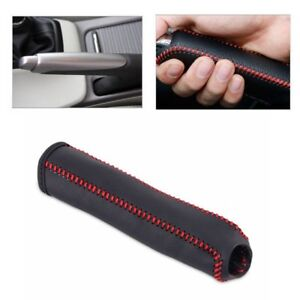 Leather Hand Brake Cover Protective Sleeve Fit For Honda Civic 04 11 Stitching