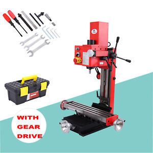 Mini Milling Drilling Machine 120 2500rpm Gear Drive Precision Variable Speed