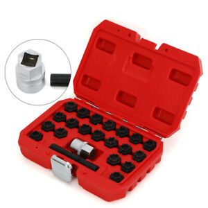 For Audi 22pcs Wheel Lock Key Removal Tool Kit Locking Lug Nut Master Set Steel