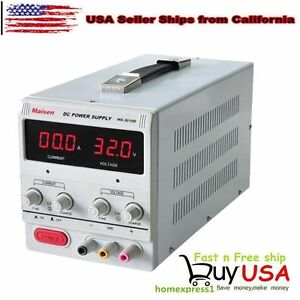 30v 10a 110v Precision Variable Dc Power Supply Digital Adjustable Dual Led Bevi
