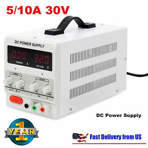 Digital Dc Power Supply 30v 10a 5a Precision Variable Adjustable Lab Grade Usvi