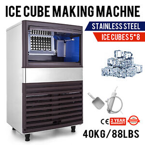 110v Commercial Ice Maker 88lbs 24h With 44lbs Storage Capacity Ice Machine