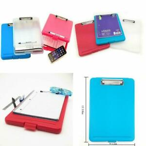 3pc Letter Size Plastic Storage Clipboard With Built in Pen Holder set