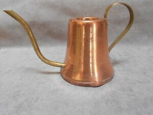 French Vintage Copper Brass Watering Can