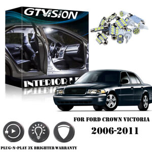 8pcs Super White Led Lights Interior Package Kit For Ford Crown Victoria 2006 20