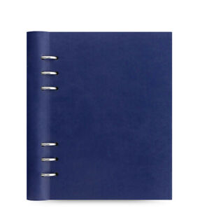 Filofax A5 Size Clipbook Classic Notebook Organiser Planner Diary Navy 026018