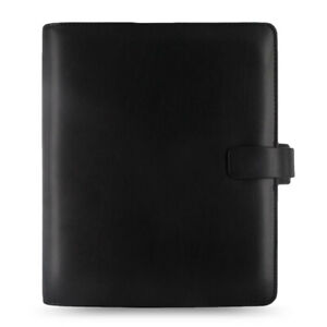 Filofax A5 Size Metropol Organiser Planner Notebook Diary Black Leather 026968